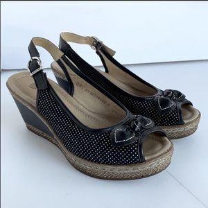 Rieker Remonte Wedge Slingback Sandals - EUC